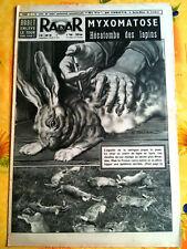 RADAR 2/08/1953  Myxomatose; hécatombe des lapins
