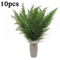 Artificial Pine Cypress Leaves Branch Simulation Green Plant Home Office Decor