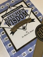 Kitchen Wisdom Recipes & Solutions 1998 Sealed HB Grandmothers Cook Book Gold Ed