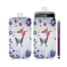 Housse coque étui pochette pour HTC Desire Z avec motif HF06 + Stylet luxe