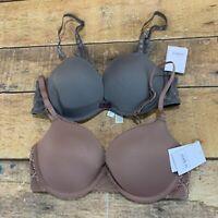 Auden Bra Size 32C Lot Of 2 Brand New NWT L205