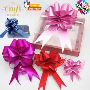 5-20 Pull Bows 50mm Wedding Car Gift Wrap Ribbon Florist WATERPROOF Decorations