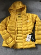 Ladies The North Face Impendor Hooded Down Jacket Size S Yellow New