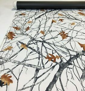 12 Yards 1000D Coated Outdoor Cordura Camo Fabric True Timber Conceal Snow DWR