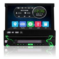 "Single 1Din Car DVD Player 7""In-Dash Touch Screen Radio GPS Nav BT+Backup Camera"