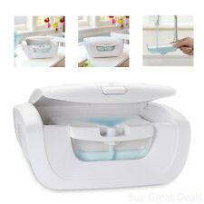 New Munchkin Mist Wipe Warmer Baby Comfort Holds 100 Fresh Wipes