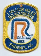 Roadway Express 1982 1 million miles Phoenix AZ drivers patch 4X2-5/8 inch
