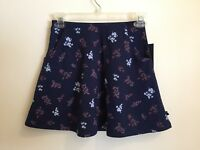 Tommy Hilfiger Girls Youth Skater Skirt S M XL Navy Blue Floral Pattern New