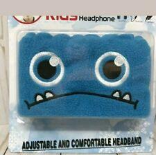 New Adjustable Kids Headband Headphone Comfortable Blue Monster Ear Warmers