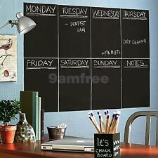 8 Sheet A4 Adhesive Blackboard Removable Vinyl Wall Sticker Chalkboard Decal