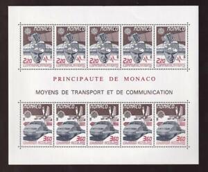 Monaco Europa 1988 Transportation Communication, MNH pane of 10, sc#1624a [p123]