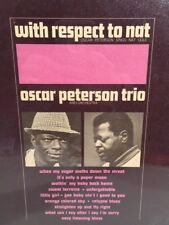 Oscar Peterson Trio Sings Nat Cole  With respect to Nat Vinyl Sealed