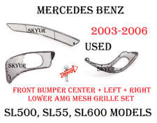 Front Bumper Cover Lower 3-Piece Mesh AMG Grill Set For 03-06 Mercedes W230 USED