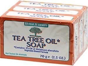 Herbal Authority 3 TEA TREE OIL BAR SOAP Athletes Foot-Ringworm-Acne Anti-Fungal