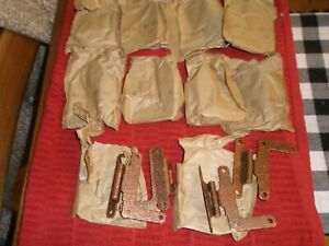 VINTAGE HAMMERED COPPER RUSTIC HINGES 10 COUNT 3250C IN WRAPPERS 3'' HIGH NIP