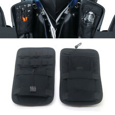 Pair Black Saddlebag Organizer Hard Bags Storage For Harley Touring Bagger 08-18