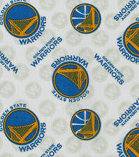 Nba Golden State Warriors Allover Print 100% Cotton Fabric By The 1/2 Yard