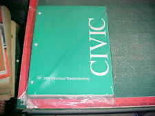 2001 HONDA CIVIC COUPE & SEDAN ELECTRICAL TROUBLESHOOTING MANUAL mint cond.