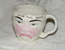 VINTAGE NOVELTY MUG WEETMAN GIFTWARE, THE CUP THAT CHEERS HAPPY & SAD FACE