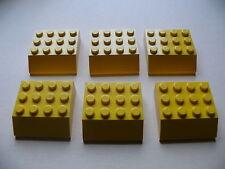 Lego 6 inclines jaunes set 6330 4223 / 6 yellow slopes 4 x 4