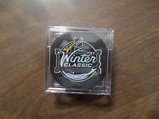 2011 NHL WINTER CLASSIC COMMEMORATIVE PUCK WITH DISPLAY CASE GREAT GIFT!