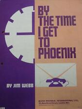 Vintage JIM WEBB By The Time I Get To Phoenix MUSIC SHEET Glen Campbell 1967