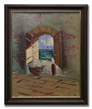 CHARLES SCHÖLANDER *1903-1979 / OPEN WINDOW - Original Swedish Oil Painting