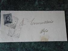 LETTERA 9.2.1910 DA TAURISANO PER IL COMMISSARIO DI ALEZIO CON 15 C. MICHETTI