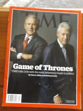 Time Magazine George W Bush Bill Clinton Game of Thrones August 3, 2015