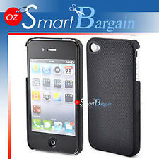 Quality Black Hard Mesh Cover Case For iPhone 4G + Film