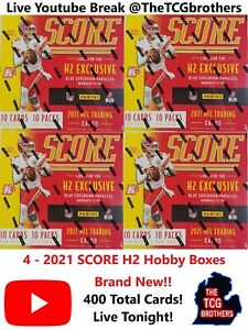 New York Jets Break 316B 4x Score H2 Hybrid Hobby Box Football 2021 PRIZM