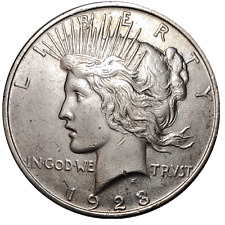 1923 Peace Silver Dollar $1, 90% Silver, BU Condition. FREE SHIPPING!