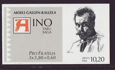 Finland 1997 MNH - Akseli Gallen - Kallela, Aino Saga - booklet with 3 stamps