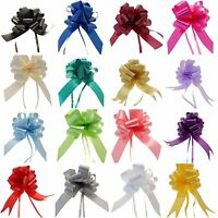50mm PULL BOWS LARGE IDEAL WEDDING CAR, PEW ENDS, GIFT WRAP, FLORISTRY VA COLOUR