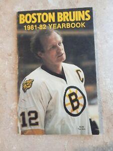 Boston Bruins 1981-82 Yearbook- Wayne Cashman Cover