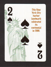The Statue of Liberty Neat Playing Card #6Y8
