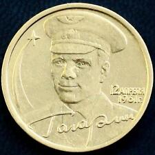 RARE RUSSIAN COIN 2 RUBLES 2001 - 40th Anniversary of the Space Flight Gagarin