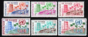 Guinée 190-193,C22-C23,MNH Admission To The Un,1st Anniv. Un Headquarters,1959