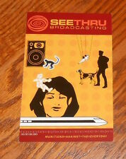 Seethru Broadcasting Sticker Postcard Promo 6x4