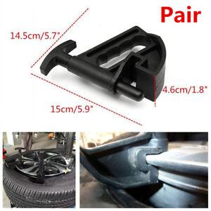 2Pcs Car Tire Changer Bead Clamp Drop Center Tool Rim Pry Wheel Changing Helper