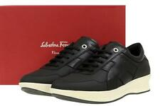 NEW SALVATORE FERRAGAMO NART BLACK LEATHER PLATFORT SNEAKERS SHOES 45/11 EE