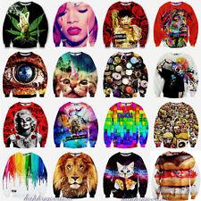 Men Women 3D T Shirt Funny Print Hoodie Sweater Sweatshirt Pullover Top Jumpers
