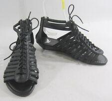 Estate Nero 3.8cm Zeppa Tacco Basso Scarpe da Donna Romano Sandali Stile