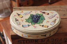 Vintage Huntley & Palmers Cocktail Basket Biscuits Tin – Retro! –