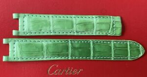 Cartier Pasha Alligator Watch Strap Band Green for Deployment Clasp Unused OEM