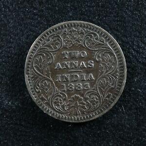 Two annas 1883C India KM#488 Silver 2 Inde भारत