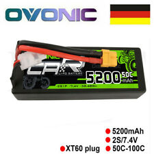 Ovonic 5200mAh 2S 7.4V 50C Lipo Akku Hardcase XT60 Stecker Für RC Auto LKW Losi