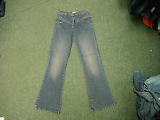 "Hot Totty Bootcut Jeans Size 12 Leg 30"" Faded Dark Blue Ladies Jeans"