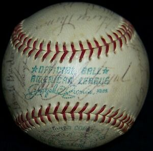 1967 Red Sox Team Signed Baseball Carl Yastrzemski Bobby Doerr 29 Autos JSA LOA!