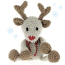 Hoooked DIY Crochet Kit Rue Reindeer Amigurumi Eco Barbante Toy Gift Christmas